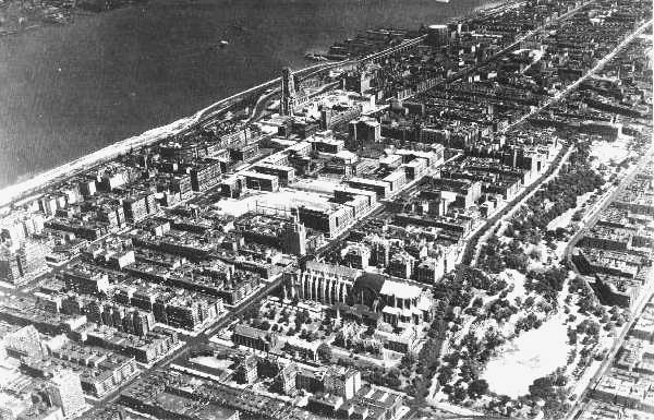 Morningside Heights from the air, 1933